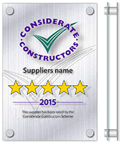 Supplier Star rated plaque