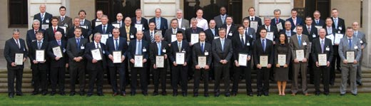 Some of the Award winners with their certificates