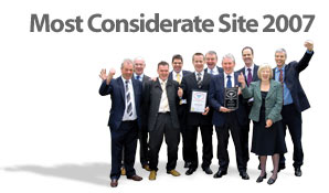 Photo of the Most Considerate Site winners